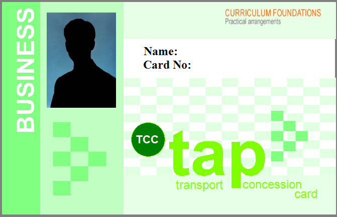 TCC tap Tranport Concession Card