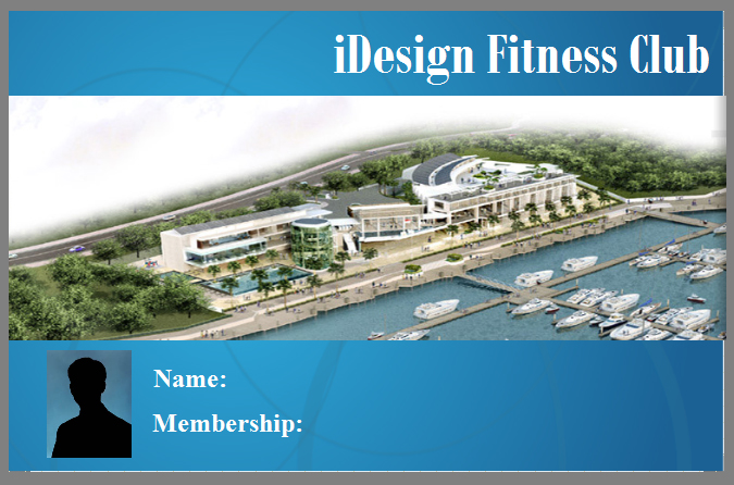 iDesign Fitness Club Card View