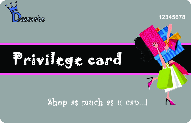 Fashion Apparel Privilege Card